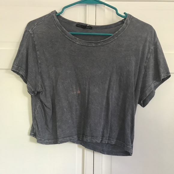 Urban Outfitters Tops - Truly Madly Deeply Grey Crop Top