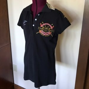 Mountain Horse Blue Polo Shirt NWT S