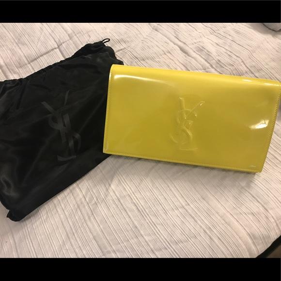 701ee6e1b7 🔶SALE🔶YSL Belle De Jour Patent Leather Clutch. M 597f9ea24127d07df0114ad0