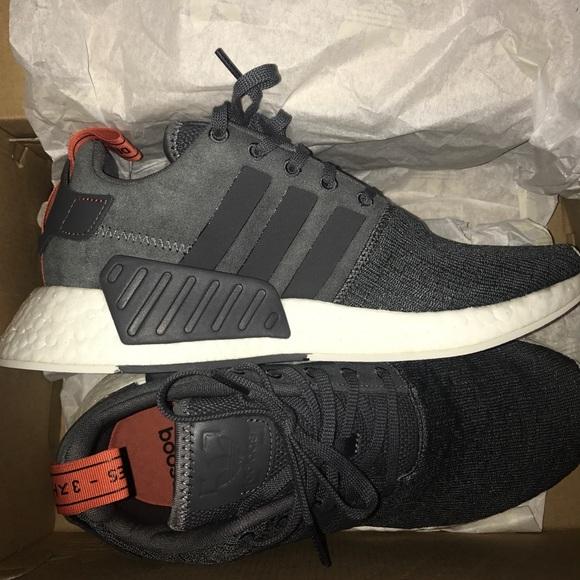 Adidas Shoes Nmd R2 Grey Burnt Orange Poshmark