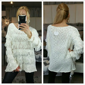 """Cassie"" Fringe detailed Sweater"