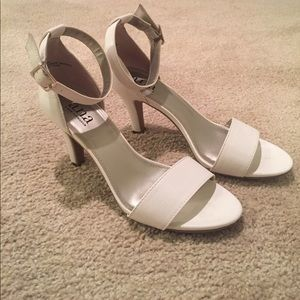 A.N.A. White 2 1/2 inch heels