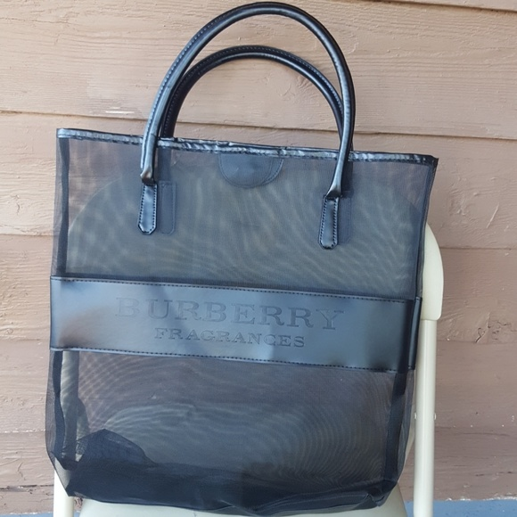 bf032fd7ac69 Authentic Burberry VIP GIFT mesh tote