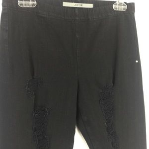 5f42e827136a6 Joe's Jeans Pants | Joes Jeans Black Destroy Jj Jeggings | Poshmark