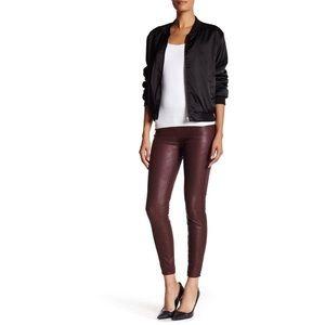 🆕NWOT BLANK NYC Vegan Leather Leggings Dark Red