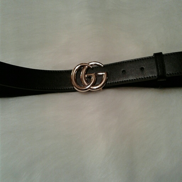 aac0ec0b Black Gucci Small Logo Belt Men/Women NWT