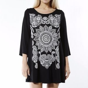 Lovely Black tunic top