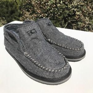 O'neill Gray Tweed Slip On Loafers Slippers 9