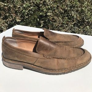 Clarks Brown Leather Loafers 10.5
