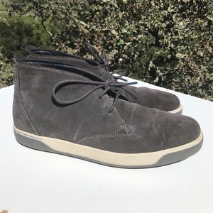 Clarks Gray Suede Nadel High Top Shoes 11