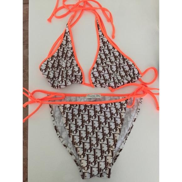 9c9b0a7dee Christian Dior Other - CHRISTIAN DIOR Monogram String Bikini Sz L