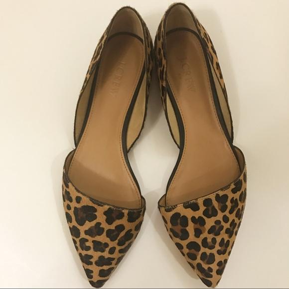 J Crew Leopard Print Dorsay Flats