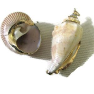 CHOOSE one of TWO Shell pendants Vintage