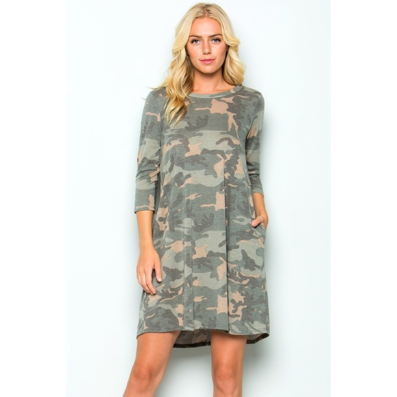 a980d935c22fe Dresses   Camo Swing Dress With Pockets   Poshmark