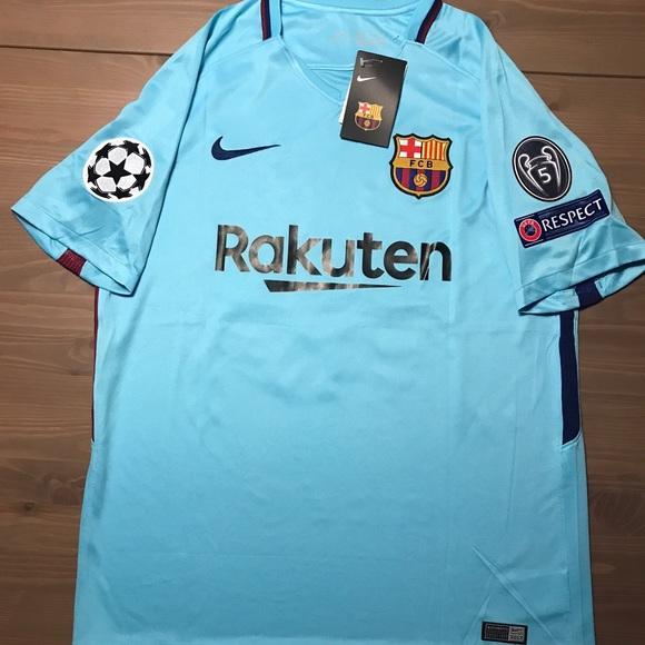 Barcelona Messi  10 light blue soccer jersey Nike 50b87ce14
