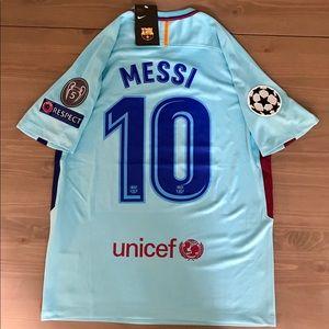 Nike Shirts - Barcelona Messi  10 light blue soccer jersey Nike 209bb152c
