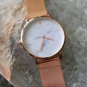 Restocked! Minimalist Marble Rose Gold Watch