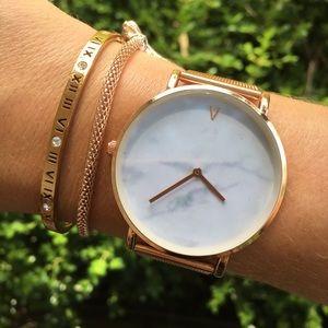 Minimalist Marble Rose Gold Luxury Watch