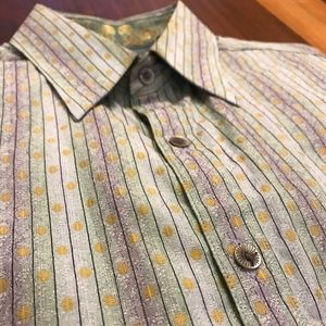 Robert Graham Abstract Shirt Men's M