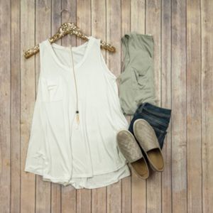 Tops - Frocket Tank in Sage