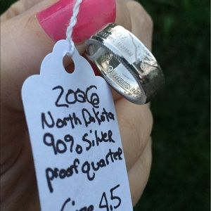 Jewelry - 2006 North Dakota Silver Quarter Coin Ring