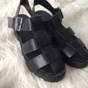Zara creeper platform sandals