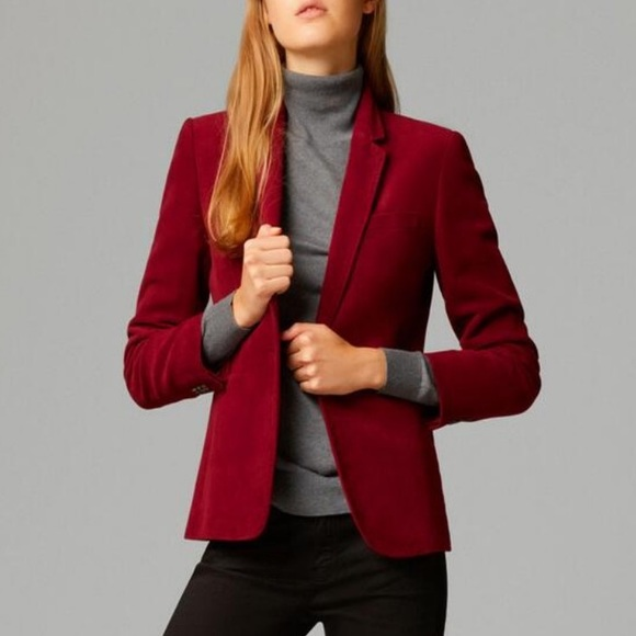 The Limited Jackets & Blazers - The Limited • Red Velvet Blazer