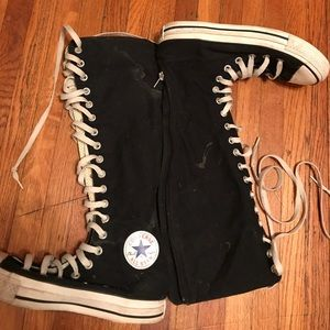 Knee high converse black