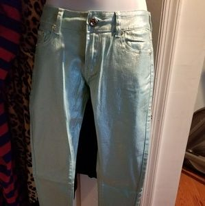 Denim - Silver green  jeans