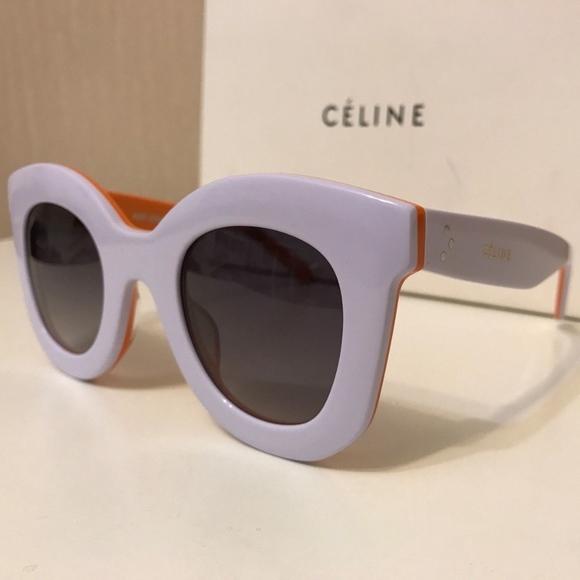 50bc750ff93 Celine Marta White Sunglasses