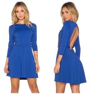 NWT David Lerner Chiqui Delgado Cutout Blue Dress
