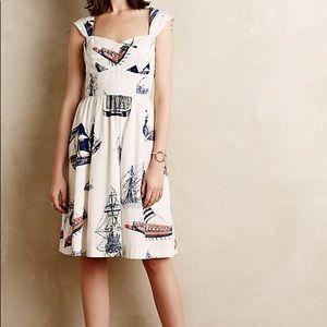 Anthropologie Bon Voyage Dress Size M