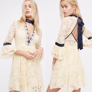 NWOT Free People Gilded Lace Dress