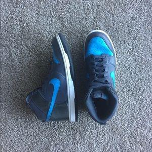 Nike blue high top sneakers