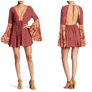 NWT Free People Bell Sleeve Cutout Romper