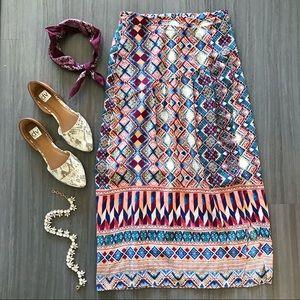 Anthropologie Silk Wrap Skirt
