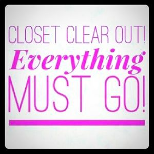 Clearing Out My Closet!!!