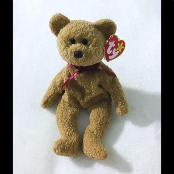 5de211b6a91 TY Beanie Baby Brown Bear CURLY Plush 🐻🐻
