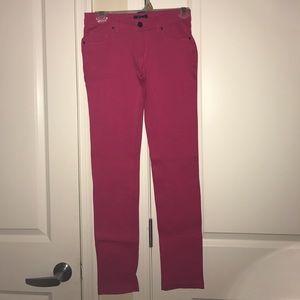 Denim - Pink jeggings.