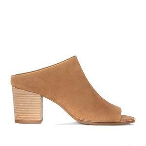 Lucky Brand Brown Organza Mule Style Heel