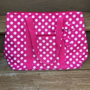 Other - Pink and White Dot Girls Sleepover Bag