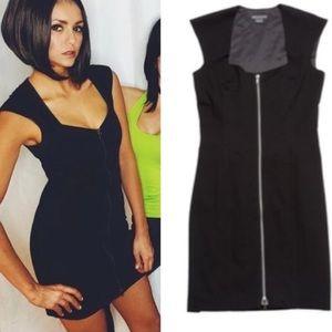 Armani Exchange front zip up dress