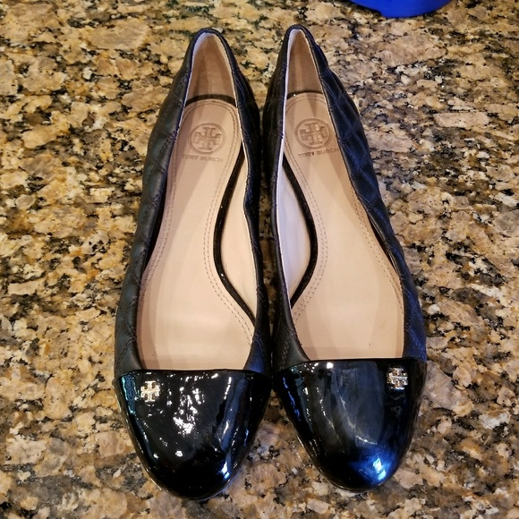 8554f4f447fb Tory Burch Shoes -  Tory Burch  Claremont Quilted Black Flats Sz 10