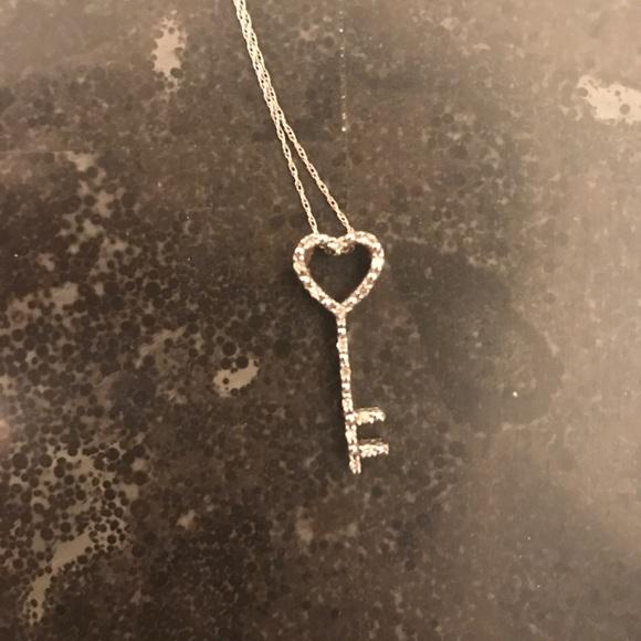 Kay Jewelers Jewelry Diamond Key To My Heart Necklace Poshmark