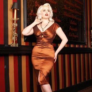 🆕WT The Niagra Dress by Dixiefried Bronze Tafetta