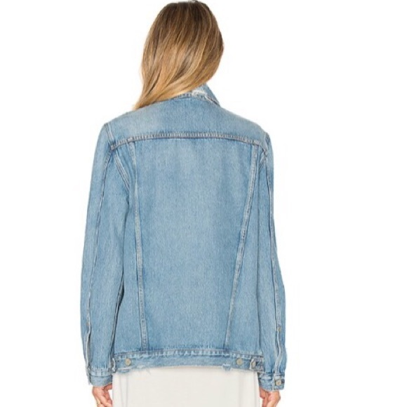 GRLFRND Jackets & Coats - DARIA OVERSIZED DENIM TRUCKER JACKET GRLFRND