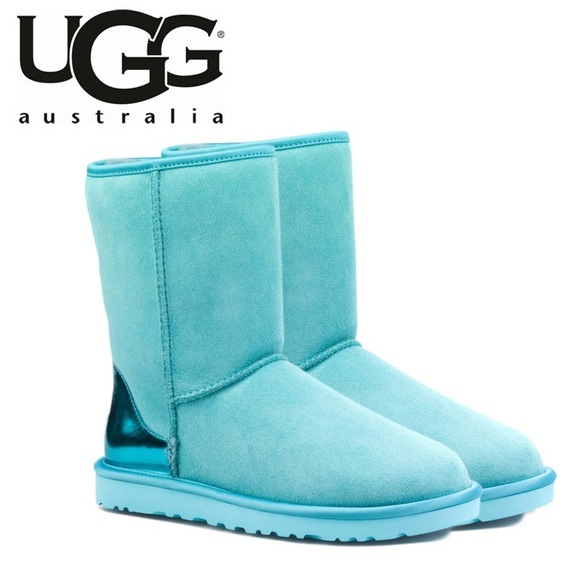blue metallic uggs