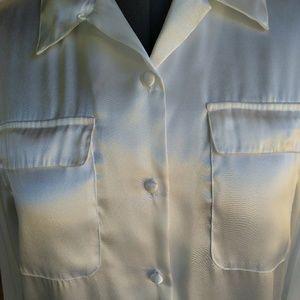 Karen Scott Petites - White Long Sleeve Blouse
