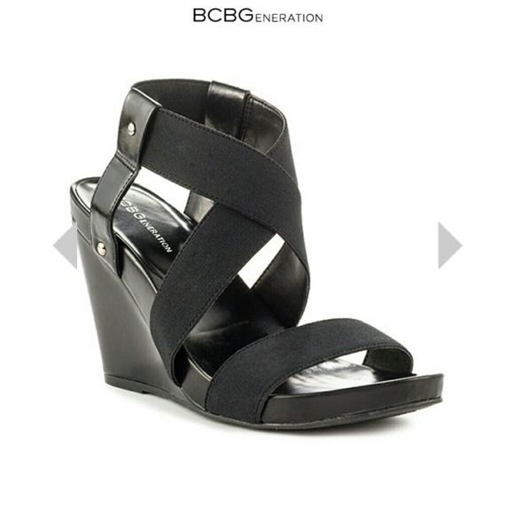 42a5ef6b6b Bcbg Generation Shoes | Black Wedge Sandals | Poshmark