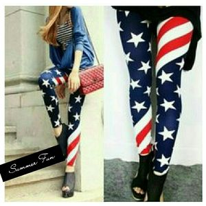 Pants - Patriot American Flag Tights